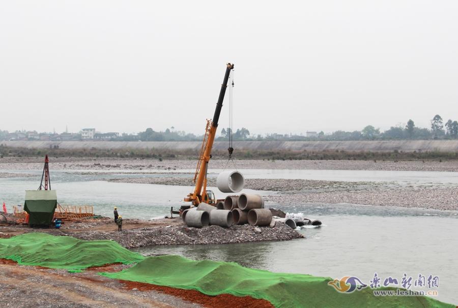 乐山又一座大渡河特大桥开建[图]
