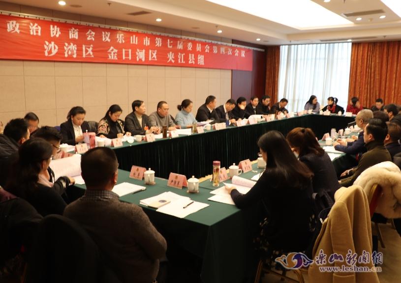 沙湾金口河夹江县组市政协委员分组讨论