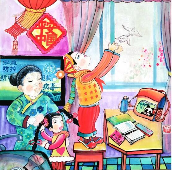 """【藝起戰(zhan)""""疫""""】井研農(nong)民畫凝(ning)聚力量(liang)"""